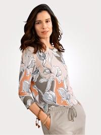 Shirt mit Floral-Druck