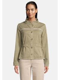 Casual-Jacke mit Taschen Aufgesteppte Bänder
