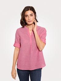 T-shirt en lin et coton mélangés