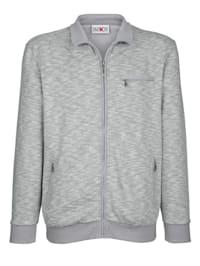 Sweatshirtjacka med mjuk insida