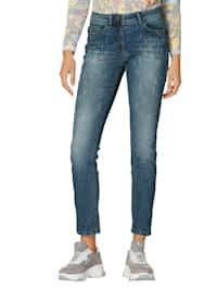 Jeans mit Animal-Druck