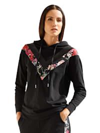 Sweatshirt met V-vormige inzetten