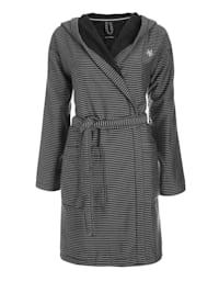 Bademantel aus garngefärbter Baumwolle STANDARD 100 by OEKO-TEX zertifiziert