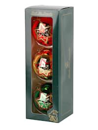 3 boules de Noël en verre