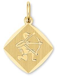 Damen Schmuck Sternzeichen Anhänger Schütze aus 333 Gelbgold
