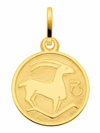 Damen & Herren Goldschmuck 333 Gold Sternzeichen Anhänger Steinbock Ø 11,8 mm