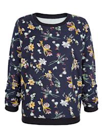 Sweatshirt mit schönem Blumendruck
