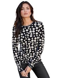 Pullover im Punkte-Dessin allover