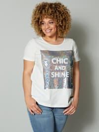 Shirt mit glitzernden Pailletten