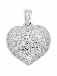 1001 Diamonds Damen Silberschmuck 925 Silber Anhänger mit Zirkonia