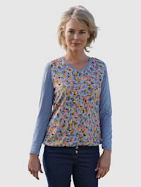 Shirt met fraaie animalprint voor