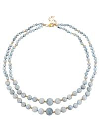 Halsband med akvamariner