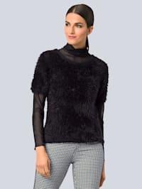 Pullover modisch mit Effektgarn
