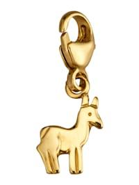 Lama-Einhänger in Gelbgold 375