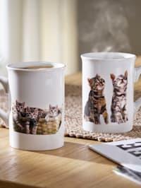 Lot de 2 mugs 'Chats'