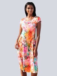 Robe de plage à imprimé coloré