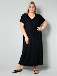 Jersey-Kleid mit kaschierendem Binde-Detail