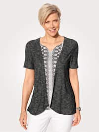 2-in-1 top in a mixed print