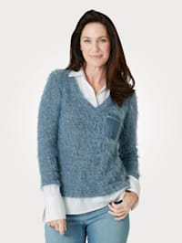 Jumper with blouse inserts