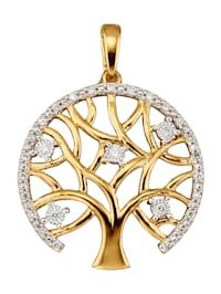 Pendentif avec brillants et diamants