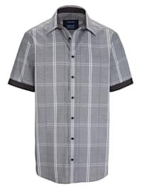 Chemise à motif graphique à carreaux