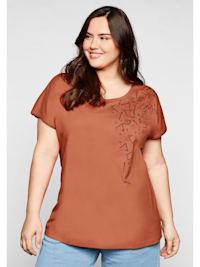 Sheego Shirt in leichter Oversized-Form, mit Druck