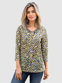 Shirt mit Animalprint rundum