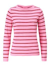 Pullover geringelt, mit Schnürung im Rückenteil