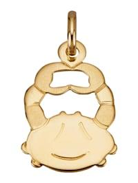 Hanger Sterrenbeeld Kreeft van 18 kt. goud