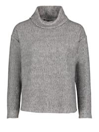 Casual-Sweatshirt mit hohem Kragen