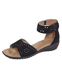 Sandaletter med diskreta dekorstenar