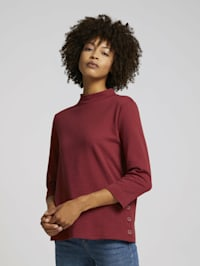 Ripp Shirt mit Bio-Baumwolle