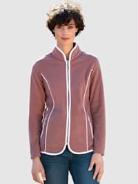 Fleecová bunda s kontrastním lemováním