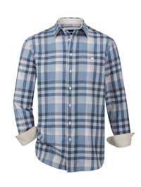 Flanellskjorta med värmande ull