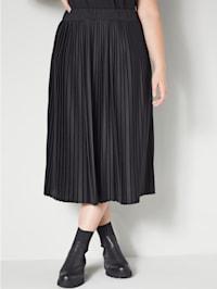Plisserad kjol med resår i midjan