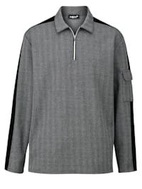Sweatshirt med påsydd ficka på ärmen