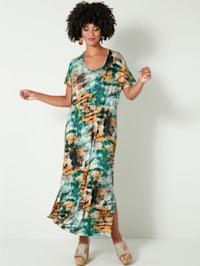 Maxi šaty s batikovanou potlačou
