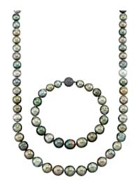 Parure de bijoux 2 pièces avec perles de culture de Tahiti