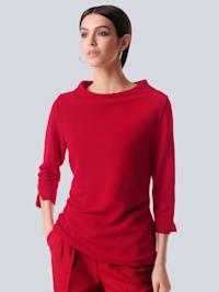 Tričko s jemne rebrovanou štruktúrou