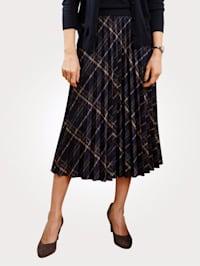Kjol med rutigt mönster