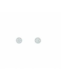 Damen Goldschmuck 585 Weißgold Ohrringe / Ohrstecker mit Zirkonia Ø 4,3 mm