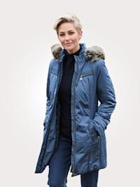 Jacket with a detachable hood