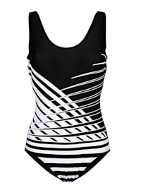 Swimsuit with bold print