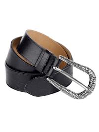 Kožený pásek s raženou sponou