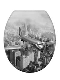 Premium WC-Sitz Old-Time Plane, aus antibakteriellem Duroplast, mit Absenkautomatik