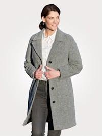 Ľahký kabát s fazónkovým golierom
