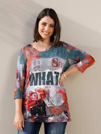 Tričko s dekorativními nýty