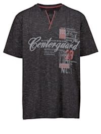 T-shirt en maille chinée