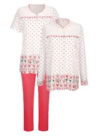Pyjama 3 pièces à motif fleuri