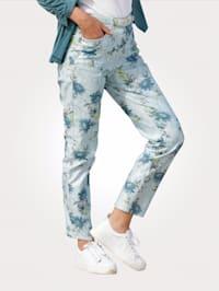Hose mit floralem Druckmix